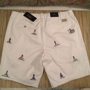 Polo Ralph Lauren White Shorts Embroidered